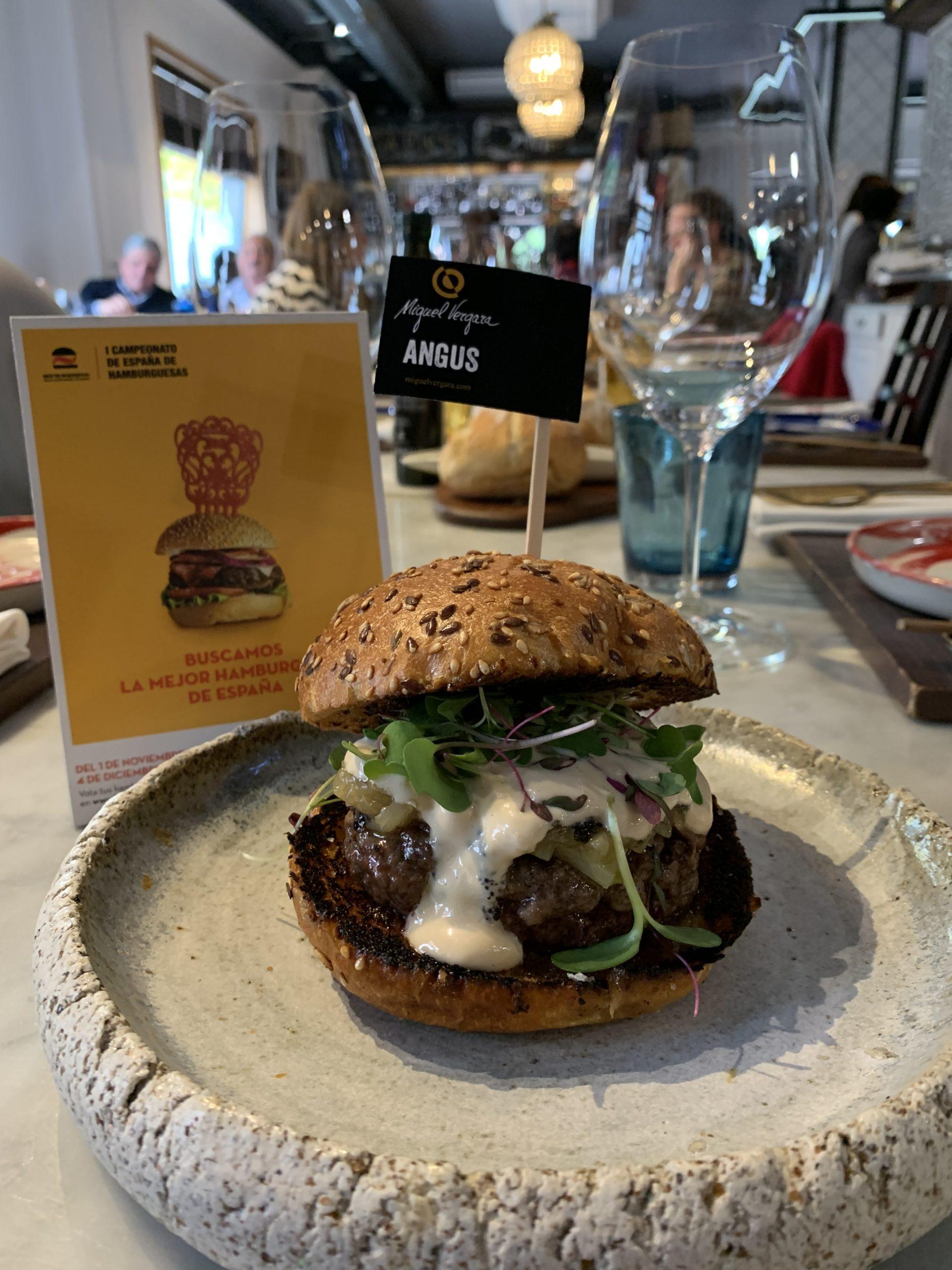 Segunda mejor hamburguesa de España con carne Miguel Vergara Angus
