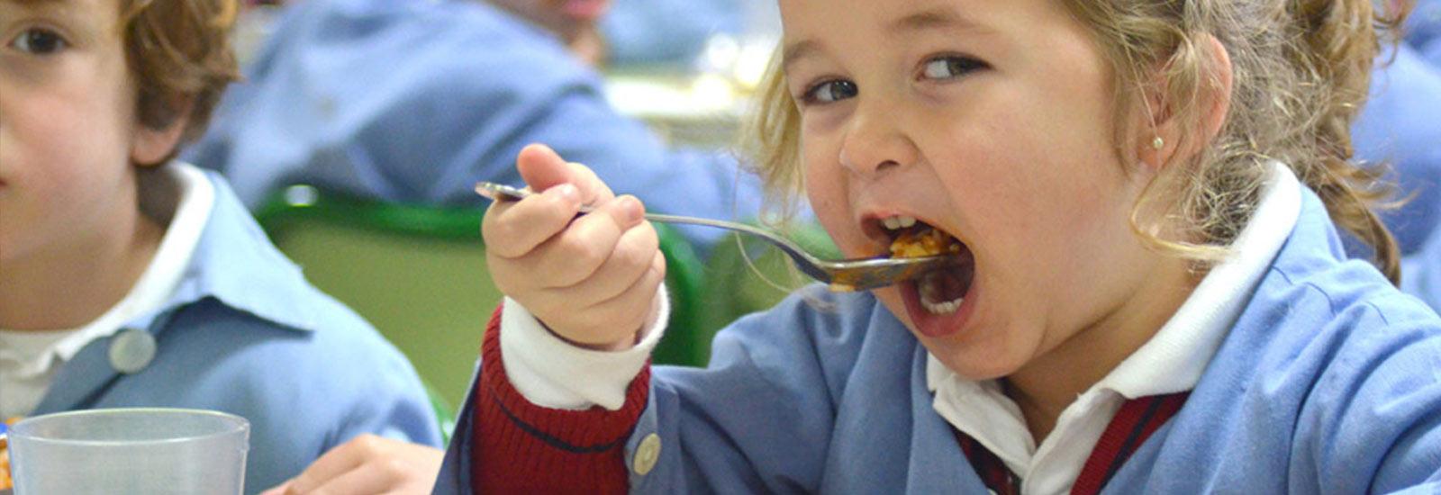 La carne en los menús de comedores escolares