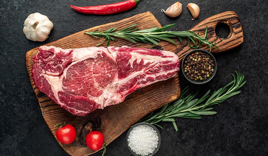 color de la grasa de la carne