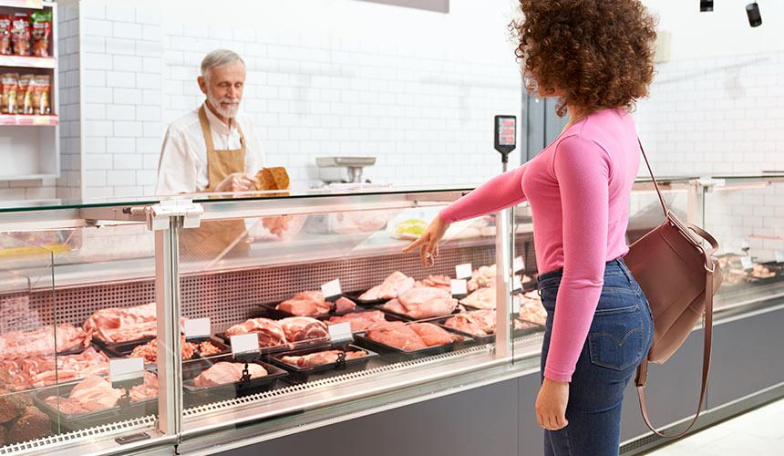color carne mostrador de carnicerias