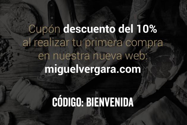 Cupón Bienvenida Miguel Vergara